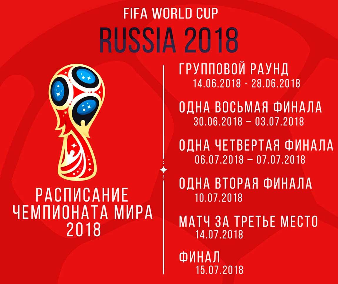 Когда будет чемпионат мира по футболу 2018 в саранске